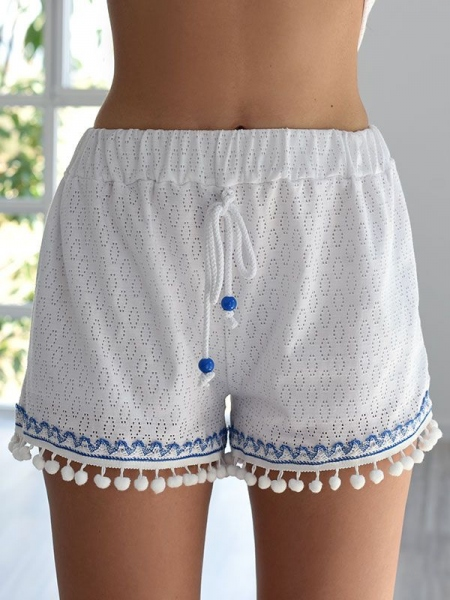 ANNY HI WAISTED WHITE SHORTS