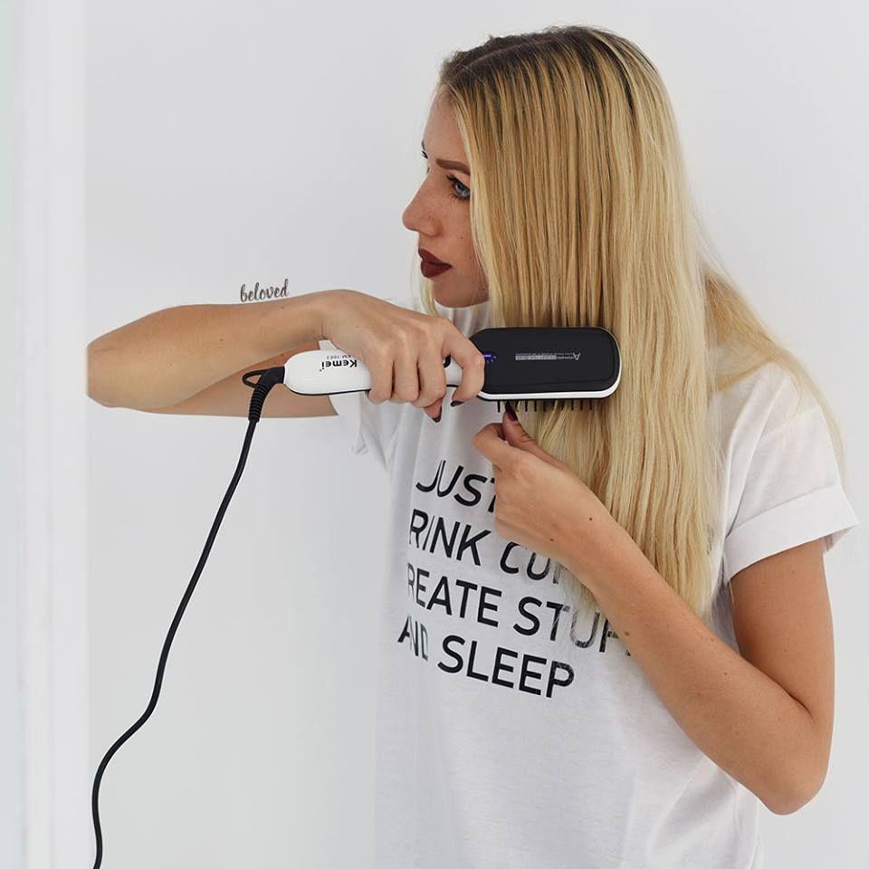 Θερμαινόμενη Μαύρη Ηλεκτρική Βούρτσα Ισιώματος Μαλλιών