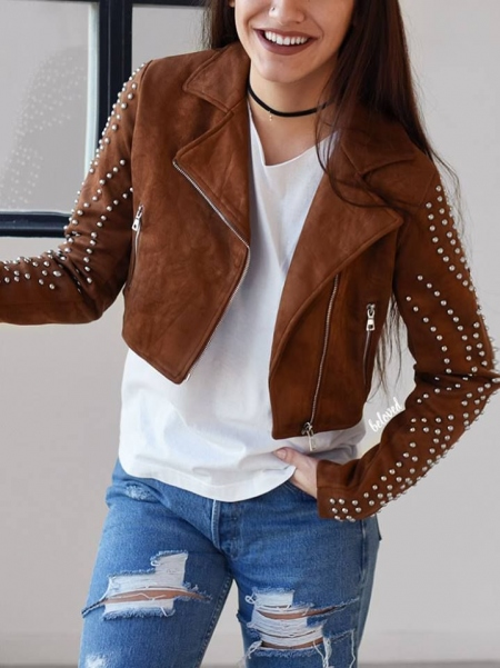 KEIRA CAMEL CROP JACKET
