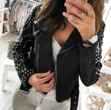 KEIRA BLACK CROP JACKET