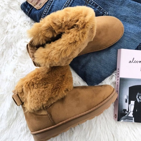 CAMEL BOW BOOTIES