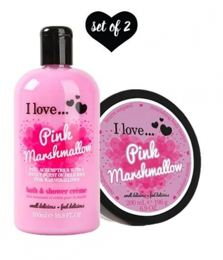 SET OF 2 PRODUCTS Pink Marshmallow