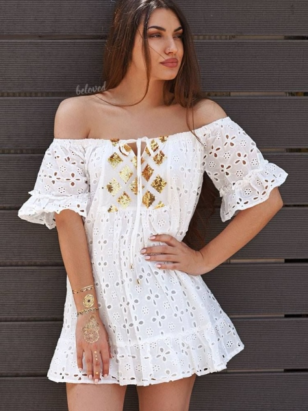 ALINA WHITE DRESS
