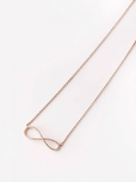 ROSE GOLD STEEL NECKLACE INFINITY