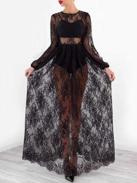 NELLY MAXI LACE DRESS