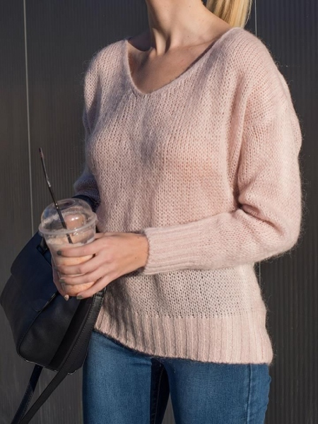 ZIZEL PINK KNITTED BLOUSE