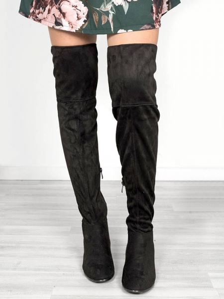 FANI BLACK OVER KNEE BOOTS
