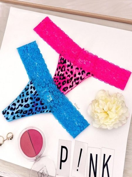 COLORED LEOPARD PINK SET OF 2