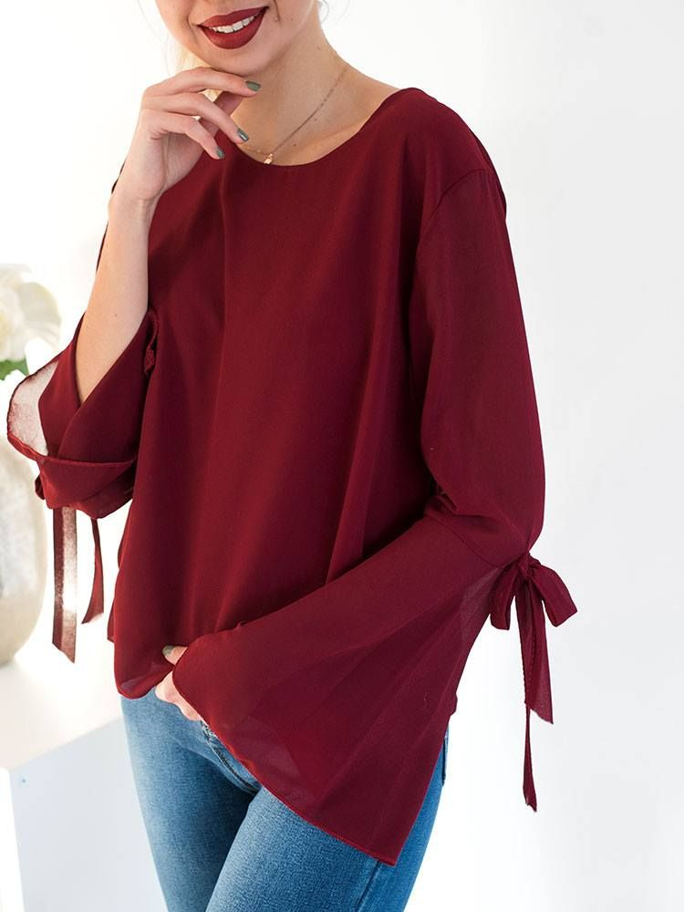 NOTA WINE BLOUSE home   γυναικεία   clothes   tops   blouses