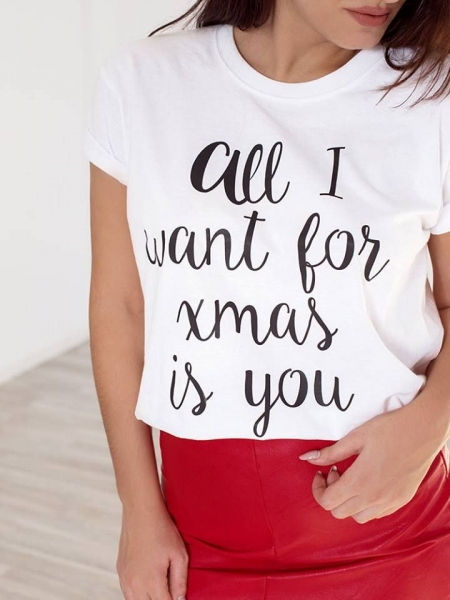 ALL I WANT WHITE T-SHIRT