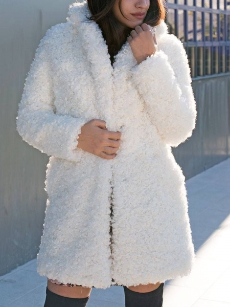 GILLIAN WHITE FURRY COAT