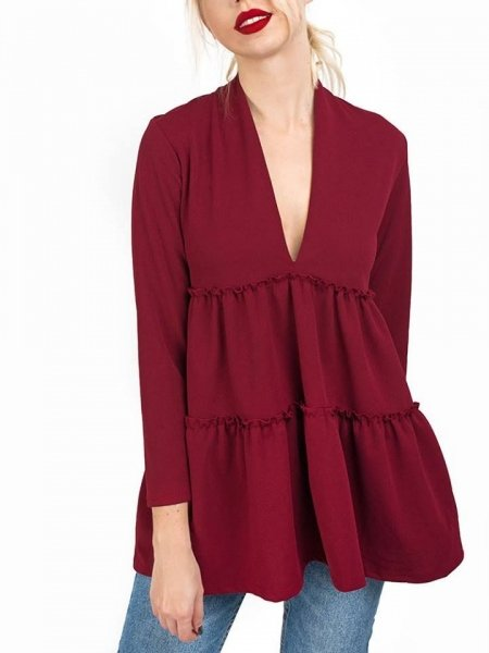 MARISSA WINE BLOUSE
