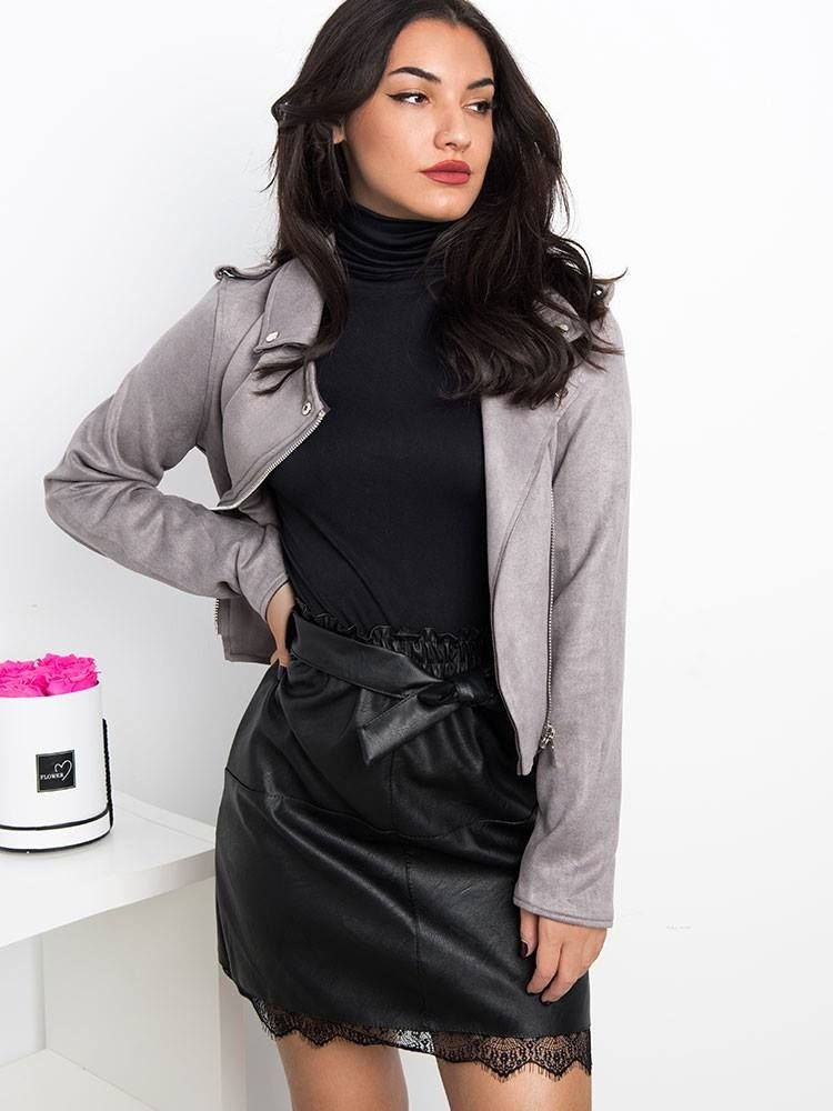 MIRIAM LEATHER SKIRT