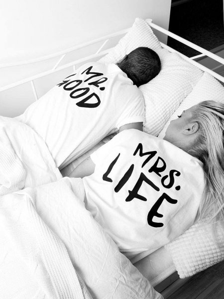 MR GOOD & MRS LIFE TSHIRT set