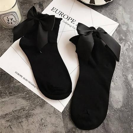 BOW BLACK MINI SOCKS