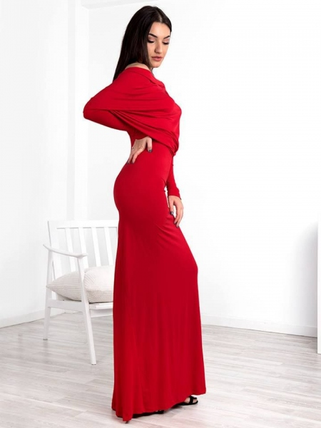 LUCILLE MAXI RED DRESS