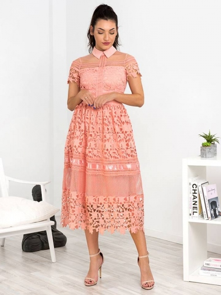 GIOVANNA SALMON DRESS