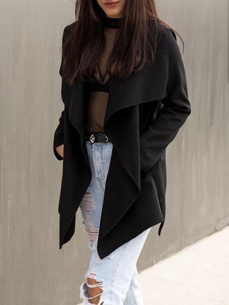 BLACK WOOL SHORT COAT