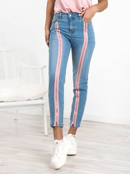 KELLY PINK ZIP JEANS