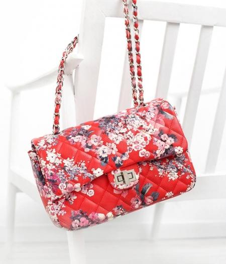 BLOSSOM RED SHOULDER BAG