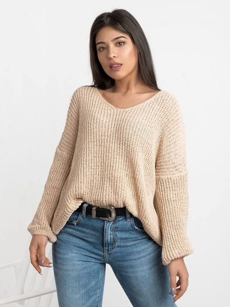 ILECTRA BEIGE SWEATER