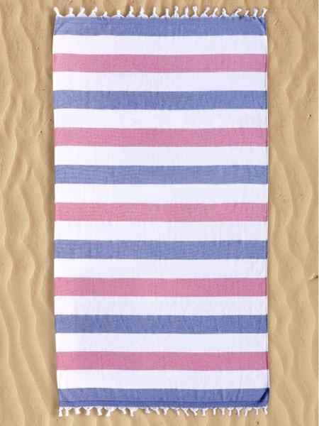 KEA BEACH TOWEL RED-WHITE-BLUE