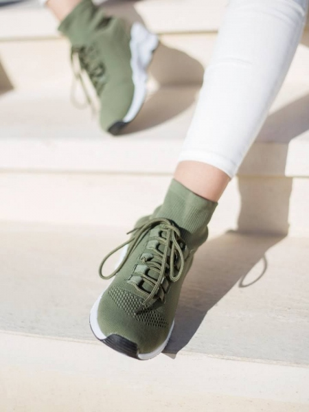 DART OLIVE SOCK SNEAKERS