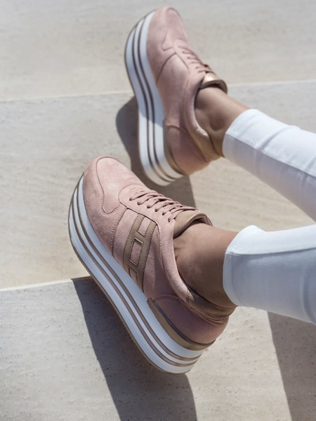 PIA DUSTY PINK FLATFORM SNEAKERS
