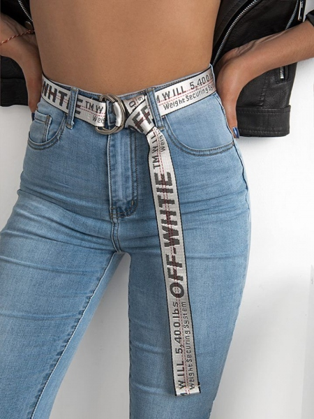 TELEGRAPGH GREY WRAP BELT