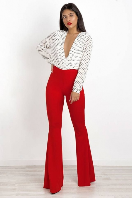 ANGELINA RED BELL PANTS