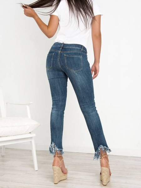 IRENA CROPPED RIPPED JEANS