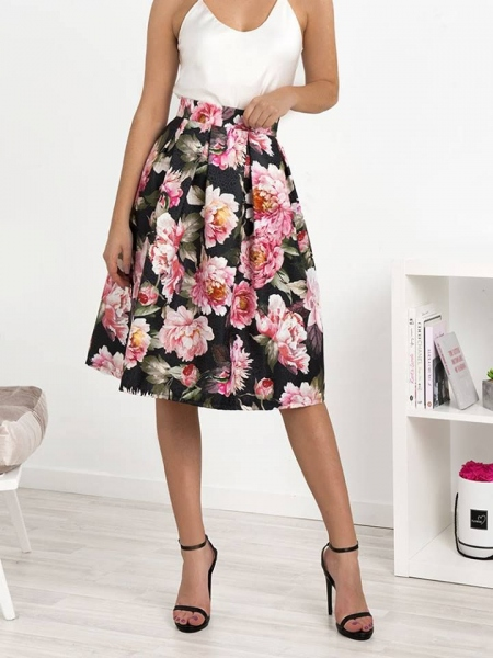 ANEMONE FLORAL SKIRT