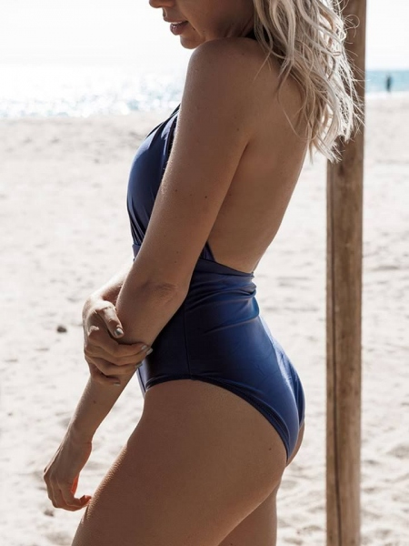 MELODY DEEP BLUE METALLIC MONOKINI