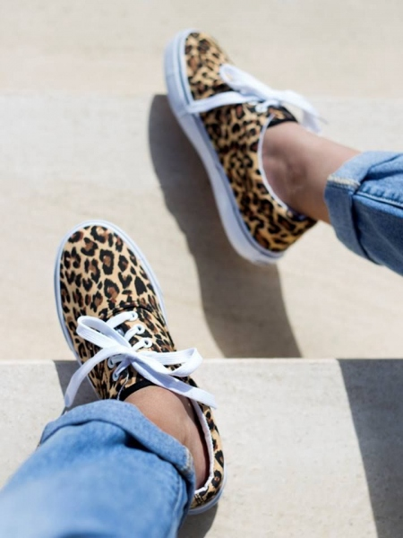 BASIC LEOPARD SNEAKERS