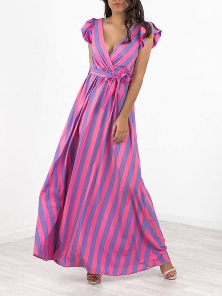 MIKA PINK STRIPPED DRESS