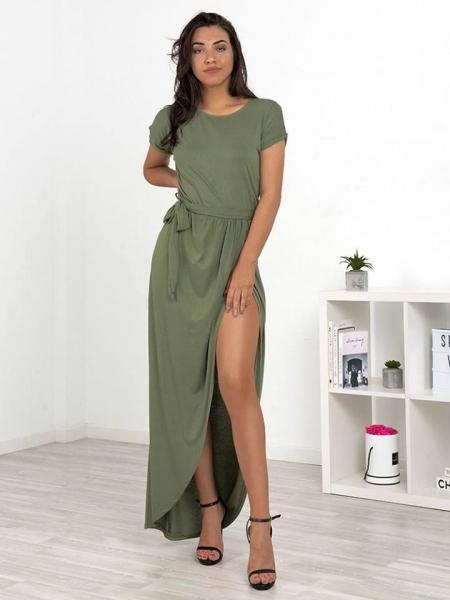 BARBARA OLIVE MAXI DRESS