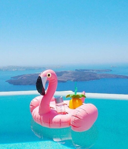 SUNNYLIFE INFLATABLE DRINK HOLDER FLAMINGO