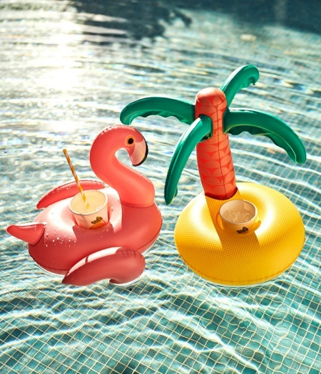 TROPICAL INFLATABLE DRINK HOLDER