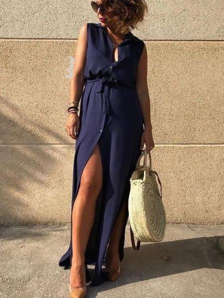 MELITA BLUE MAXI DRESS