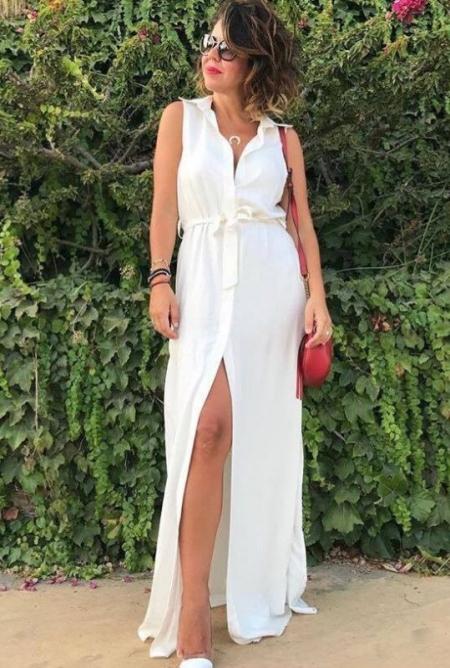 MELITA WHITE MAXI DRESS