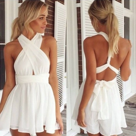LIANA WHITE PLAYSUIT
