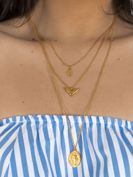 LITA TRIPLE GOLD NECKLACE