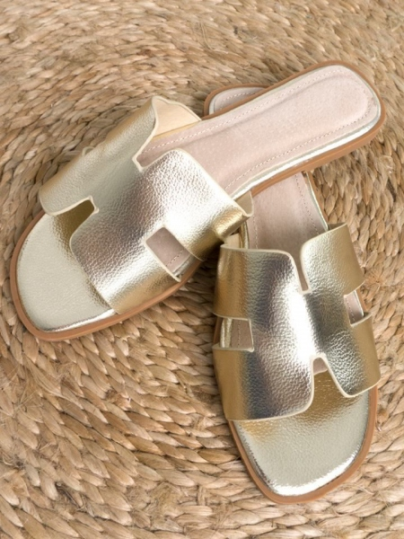 SAGE GOLD SLIPPERS