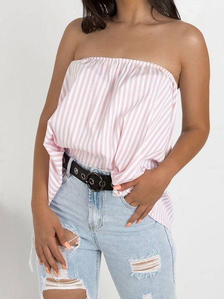 NALA PINK STRIPED BLOUSE