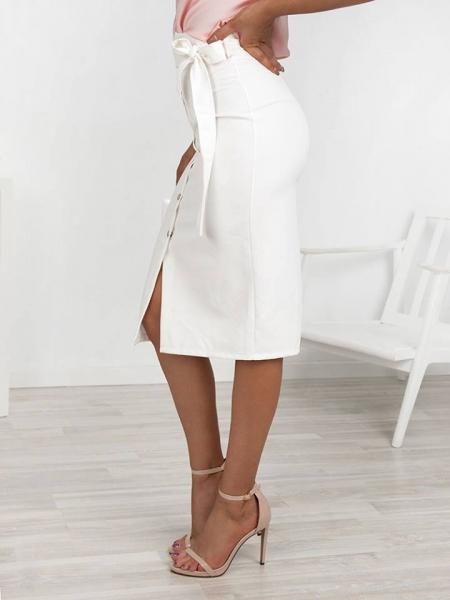 λευκη φουστα pencil skirt 2