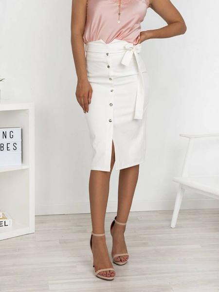 λευκη φουστα pencil skirt 1