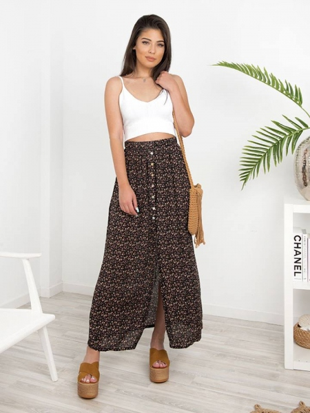 NANCY BOHO BLACK SKIRT