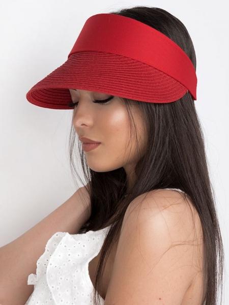 HALF SUMMER HAT RED
