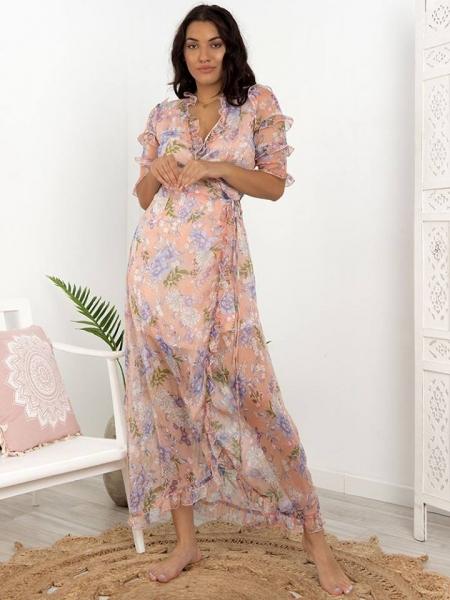 floral pastel pink dress 1