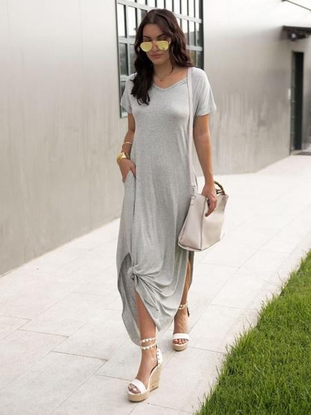 DIONA GREY MAXI DRESS